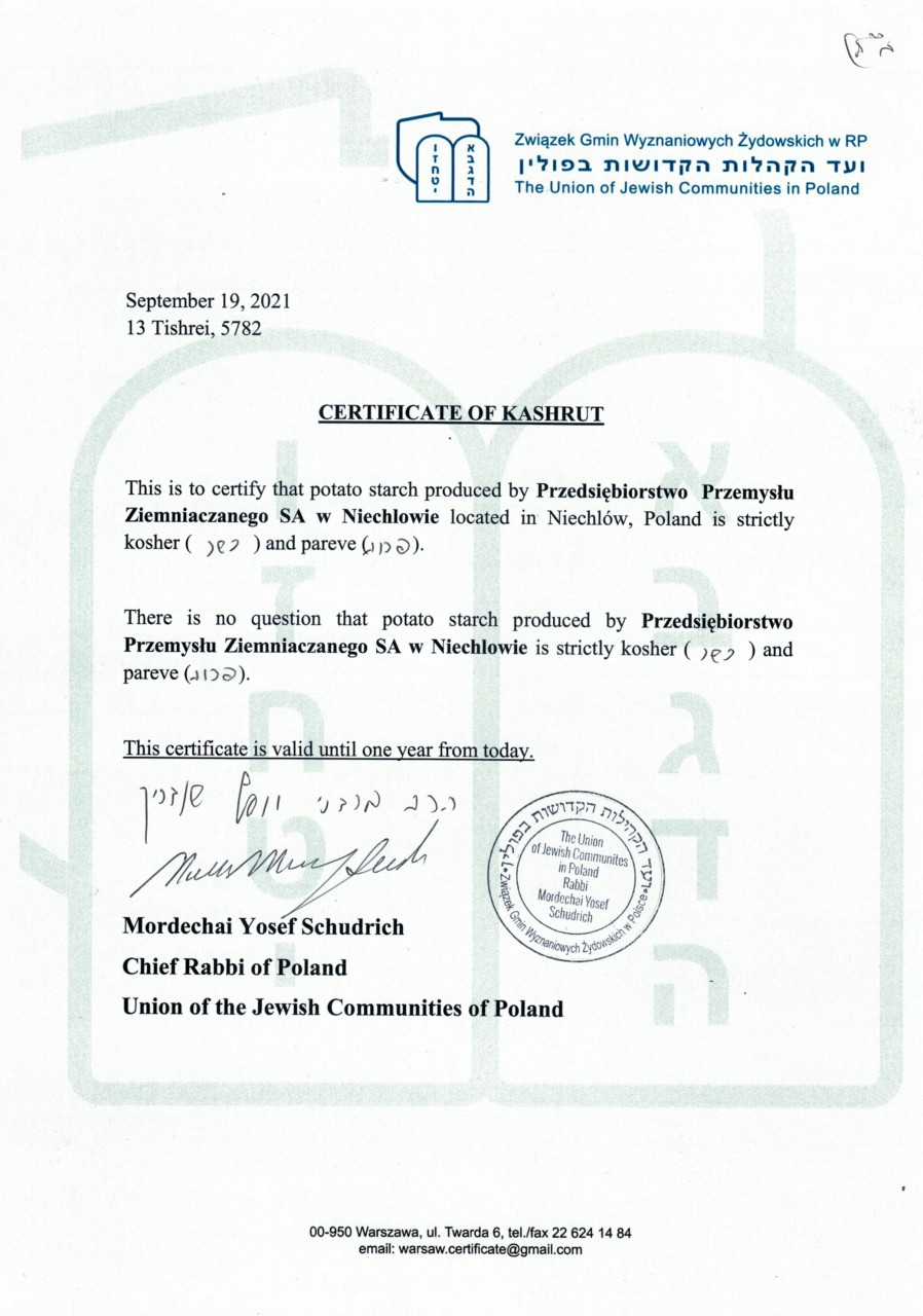 Issued by the Jewish Community in Warsaw