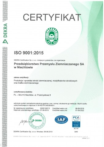 Issued by the DEKRA Certification Sp. z o.o.