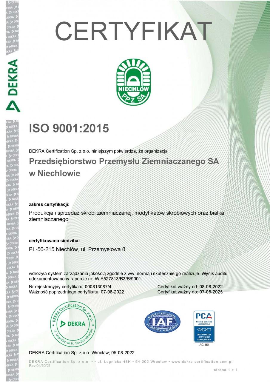 Wydany przez  DEKRA Certification Sp. z o.o.