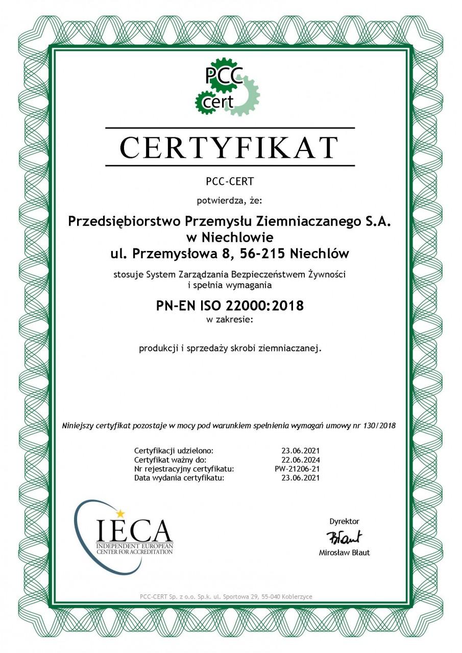 Wydany przez Polskie Centrum Certyfikacji - CERT