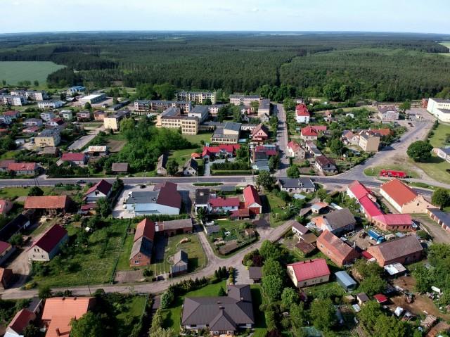 Niechlów z lotu ptaka - maj 2019.